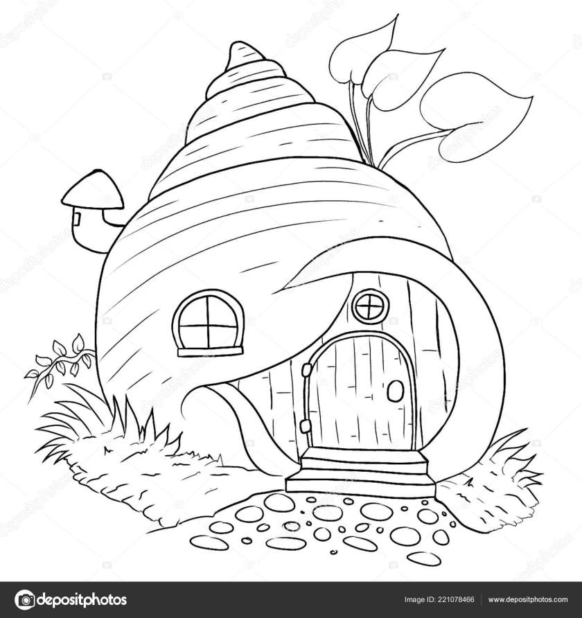 fairy house coloring page — stock photo © dennyranch.gmail
