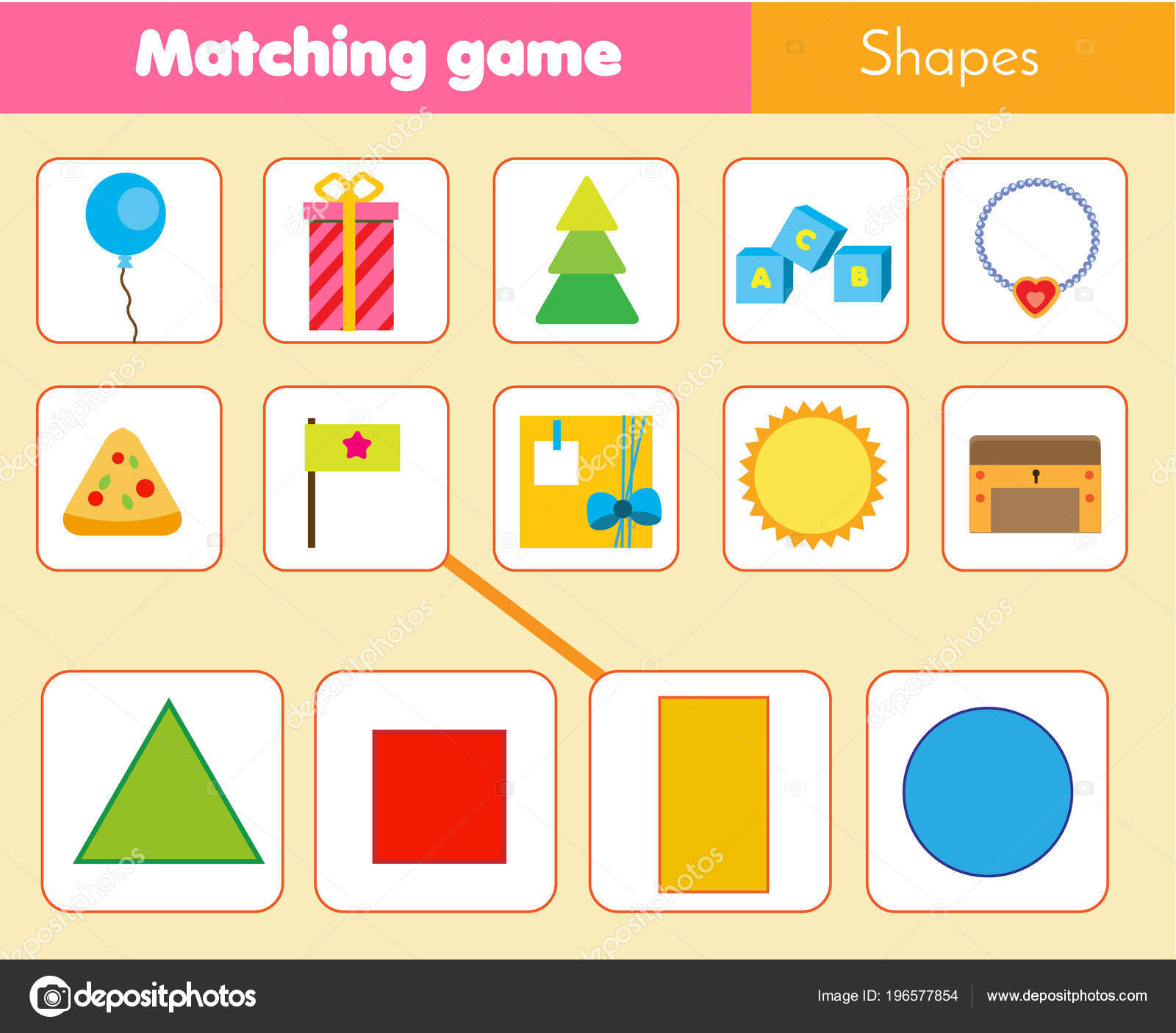 Educational Children Game Matching Game Worksheet Kids