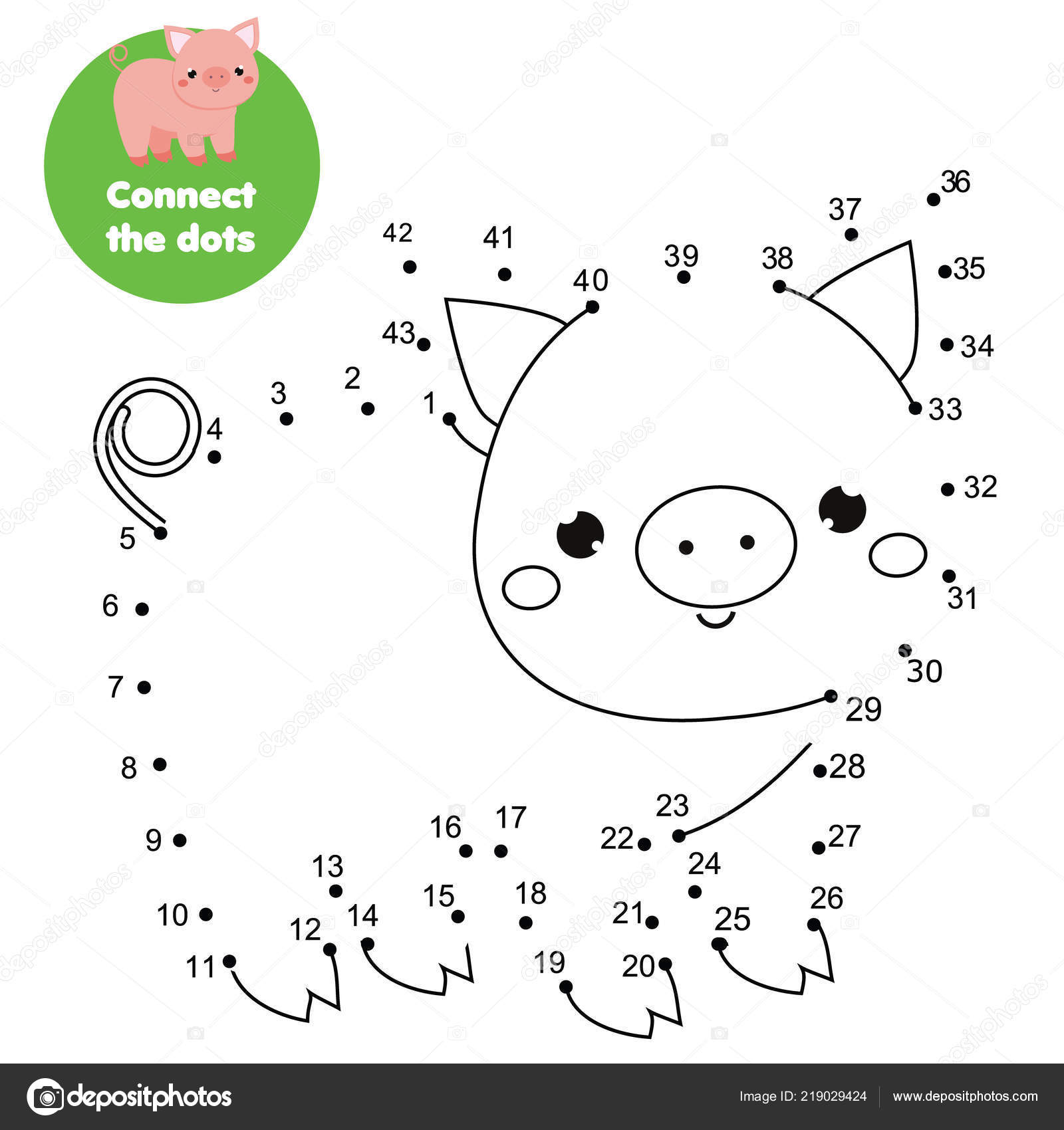 Connect Dots Children Educational Game Dot Dot Numbers