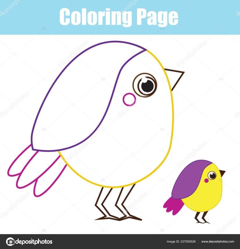 cartoon bird coloring page children kids printable toddlers