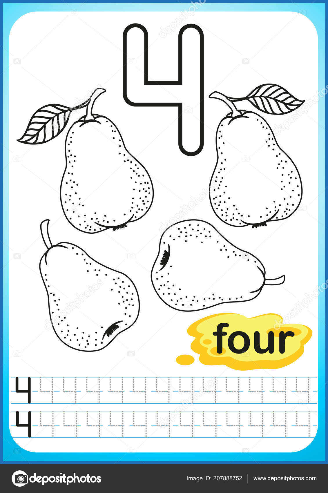 Kindergarten Number Exercise Worksheet