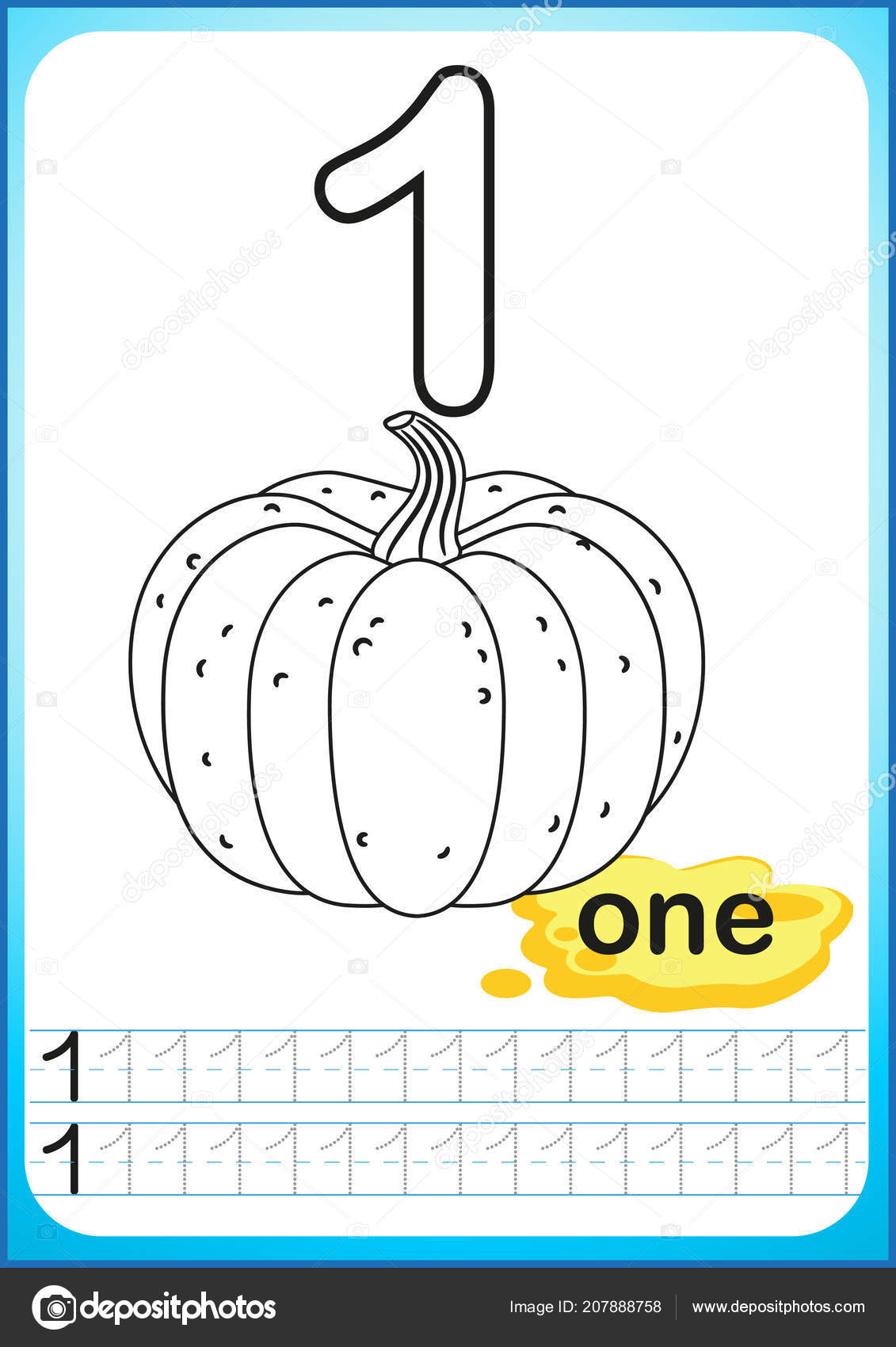 Elegant Pumpkin Color By Number Kindergarten