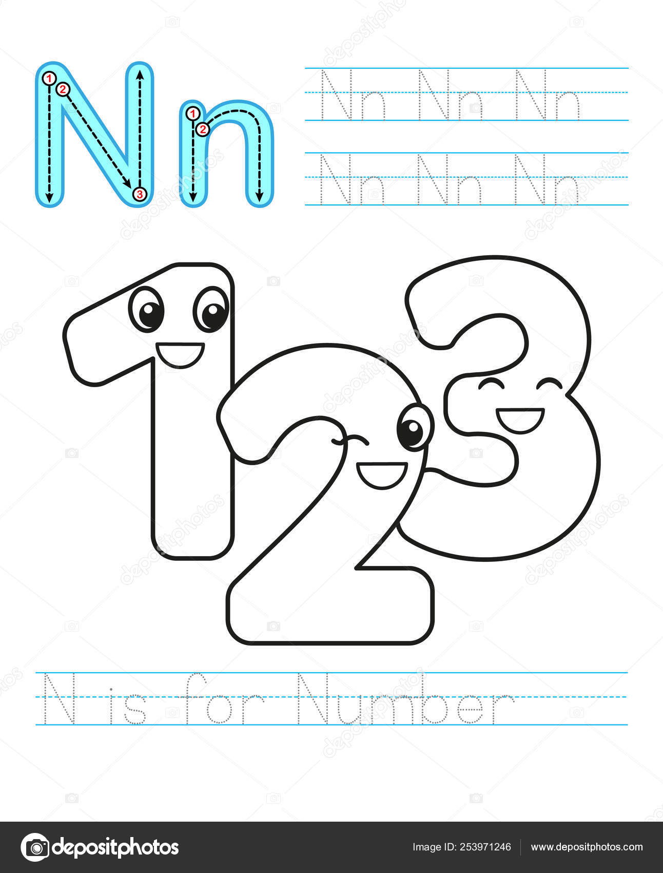 Coloring Book Page Printable Worksheet For Kindergarten