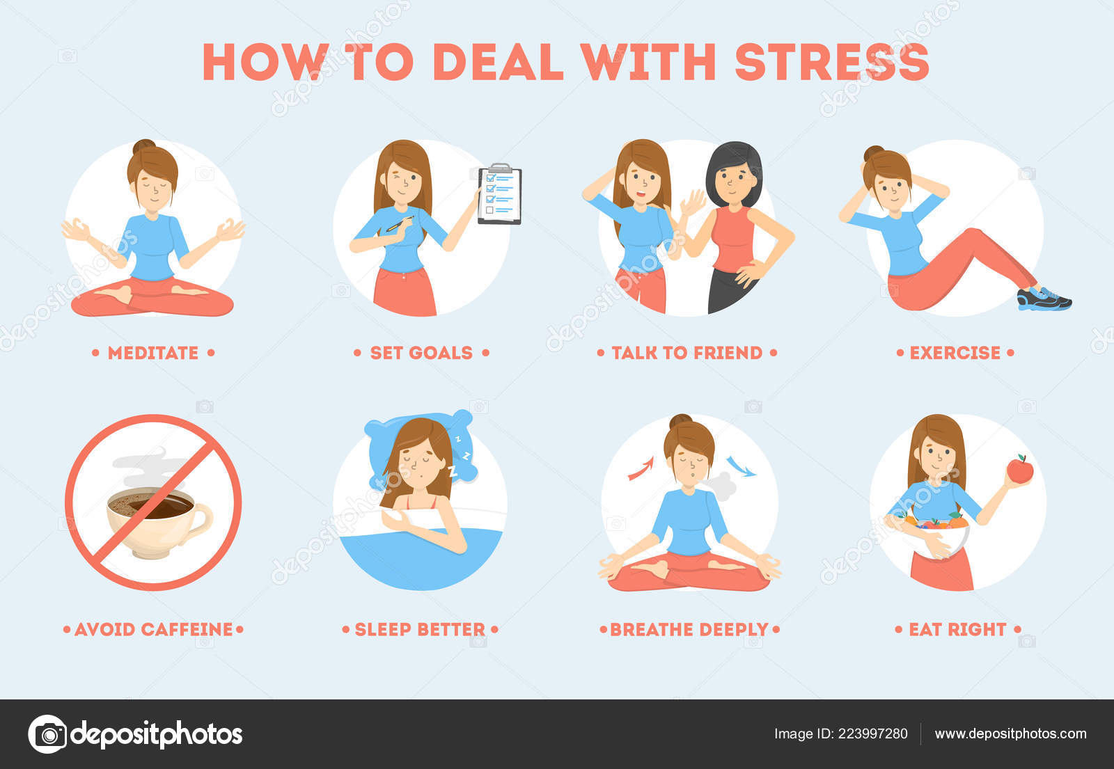 How To Deal With Stress Guide Depression Reduce