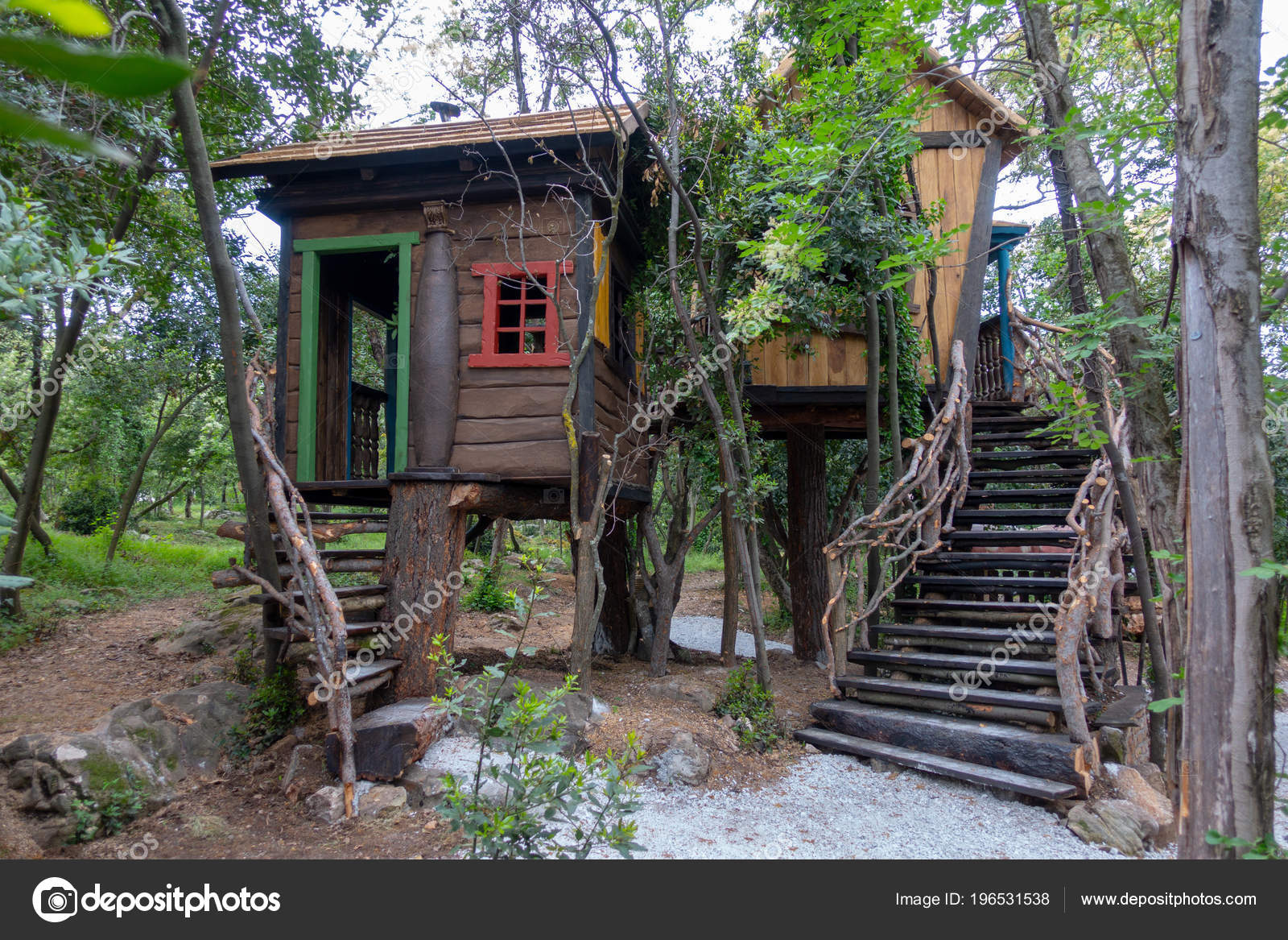 Fantasy Tree House For Children Playing Stock Photo C Asafaric 196531538