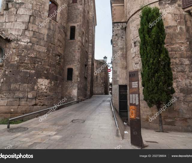 Cathedral Square Gothic Quarter Barcelona Spain Stock Photo