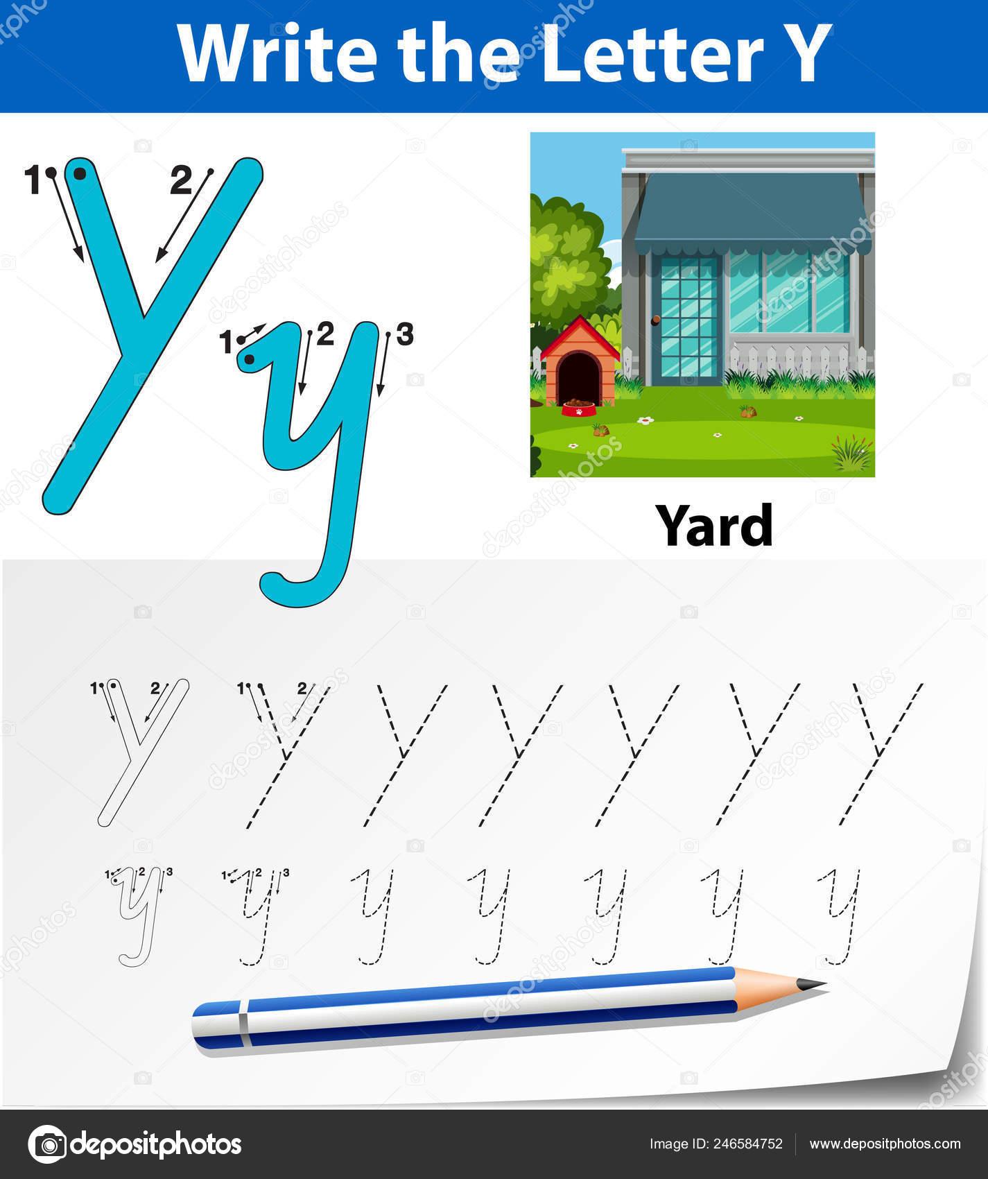 Letter Tracing Alphabet Worksheets Illustration