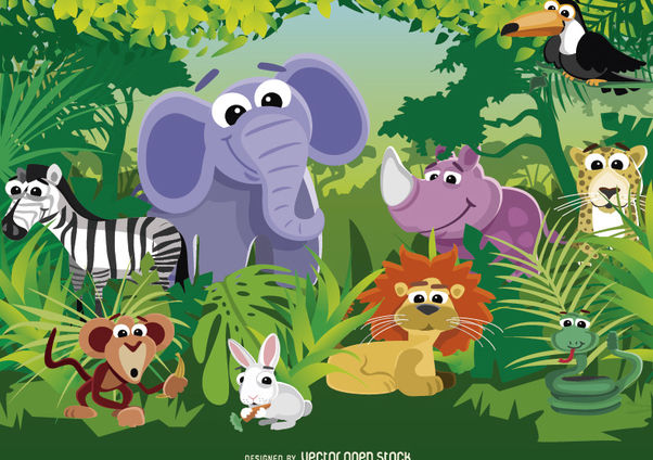 Animals Of The Jungle Free Vector Download 180685 Cannypic