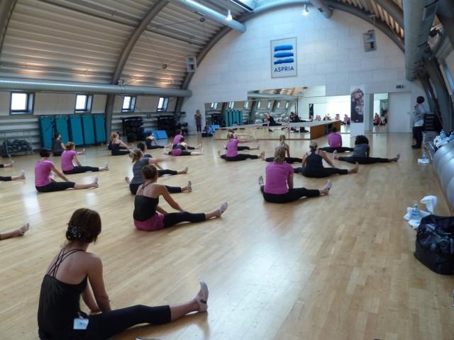 Alessandra Pasquali und die Teilnehmerinnen beim Workout