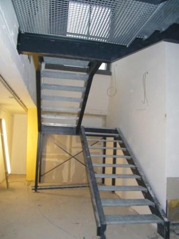 Diese Treppe führt zur Galerie mit Blick von oben auf die Ballettsäle.
