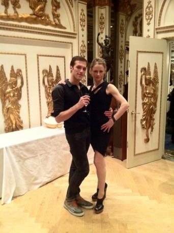 Nadja Saidakova & Federico Spallitta beim Empfang von Tokyo Ballet.