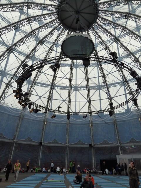 Die Kuppel des Gasometer Berlin.