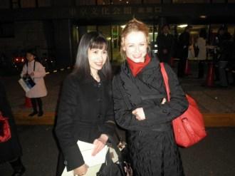 Nadja Saidakova mit einer Anhängerin....