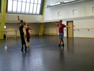 Im Ballettstudio...