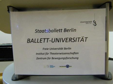 ... findet die erste Ballett-Universität statt.