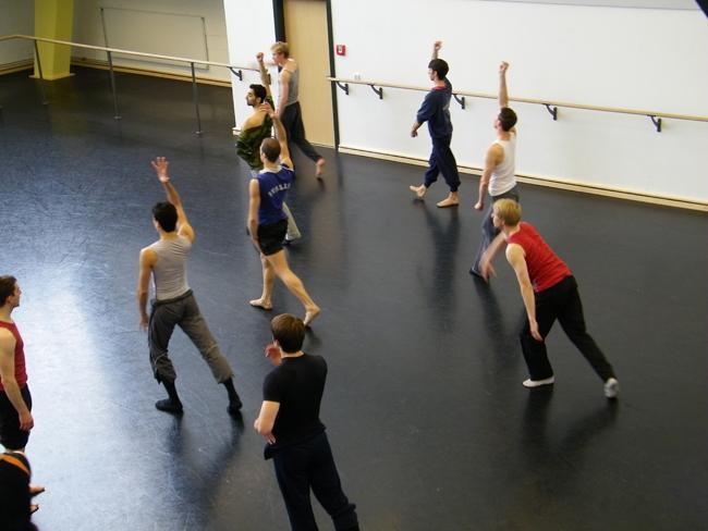 Im Ballettsaal 3.