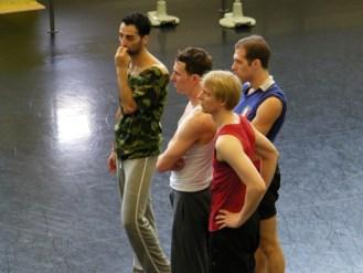 Arshak, Michael, Sven und Federico.