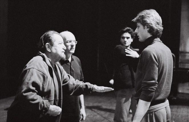 Maurice Béjart und Bertrand d'At mit Ibrahim Önal und Wieslaw Dudek