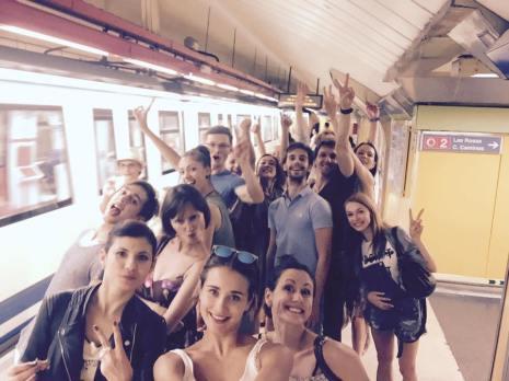 "Mit der Metro zum Tablao Flamenco ""La Quimera"""