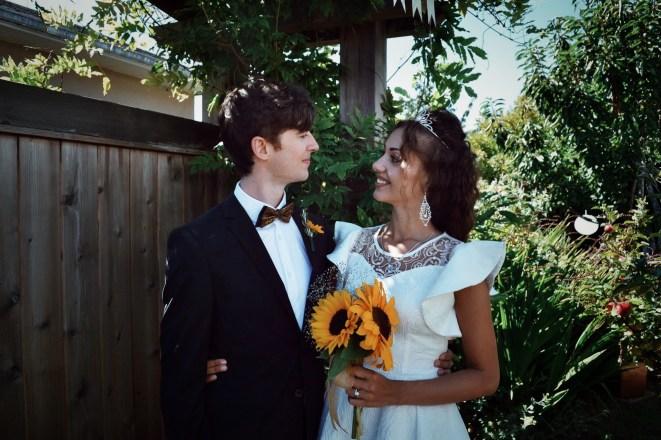 Georgeta Varvarici mit Ehemann in Kanada