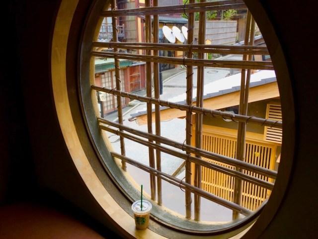 京都二寧坂ヤサカ茶屋店スタバの二階からの眺め