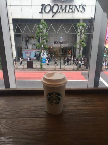 スタバ の2階から見た渋谷109