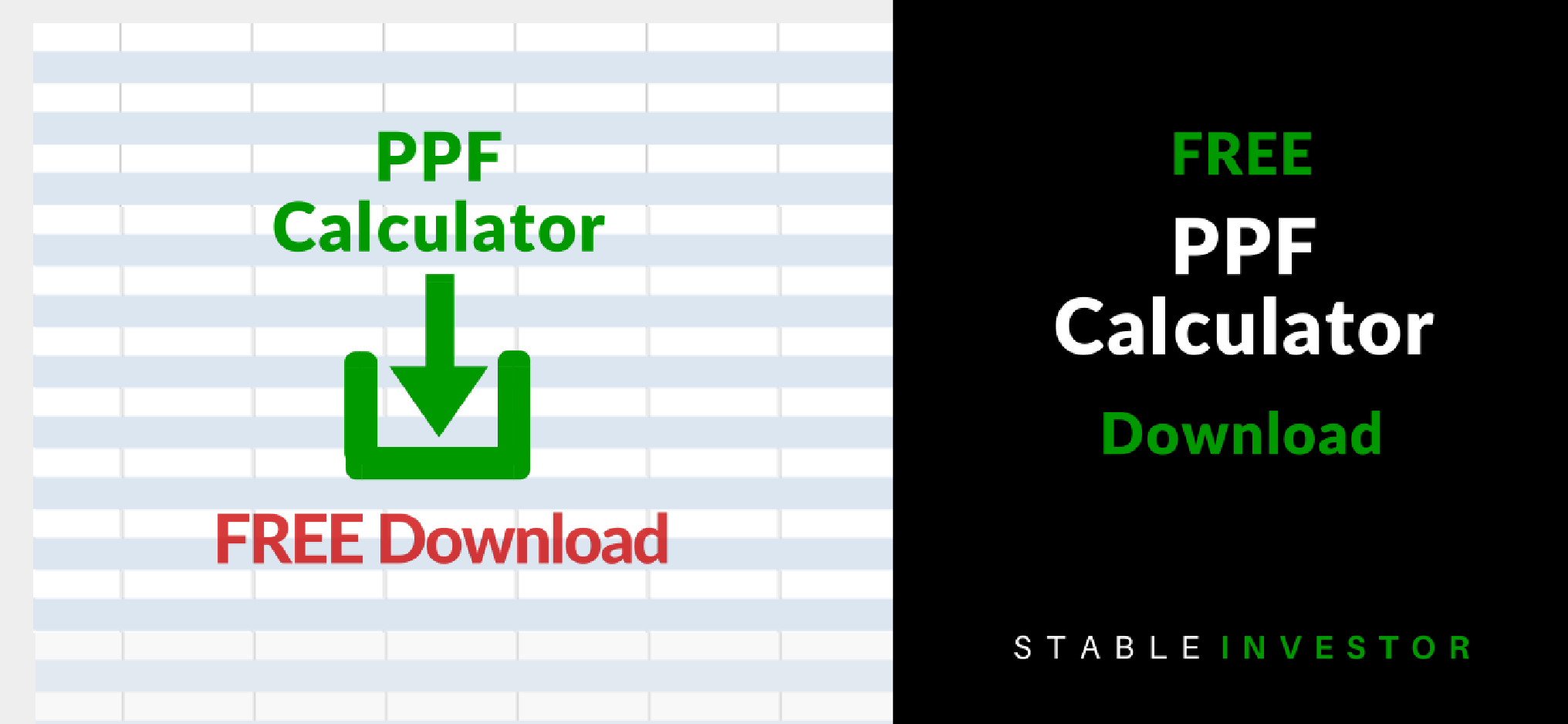 Ppf Calculator Excel Worksheet Download Stable Investor