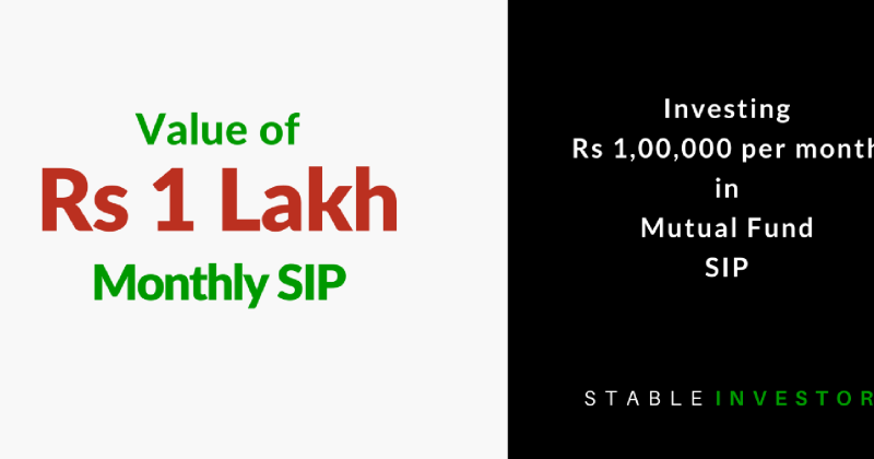 Invest 1 lakh month SIP