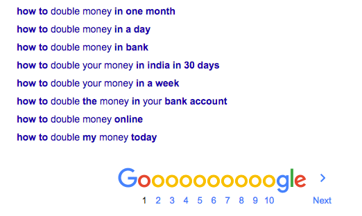Google Search Double Money