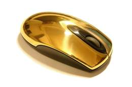 MJ Golden Mouse Solid Pure Gold 999