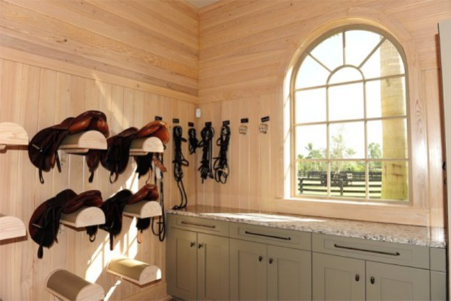 Tack room with lots of natural light - located in Wellington, Florida