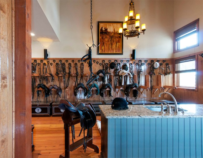 The tack room at Glenwood Farm