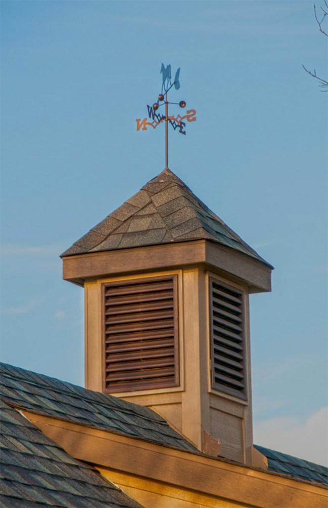 Weather vane and cupola