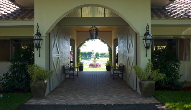 main entry to the barn
