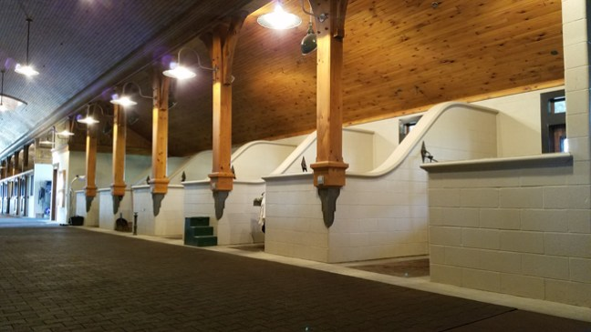 grooming and tack areas