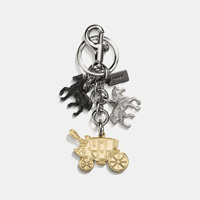 iconic horse and carriage key ring