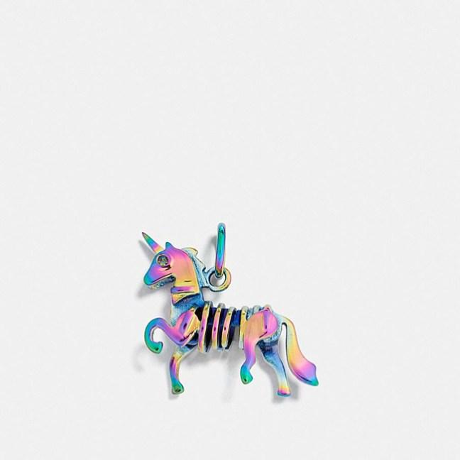 Coach unicorn charm