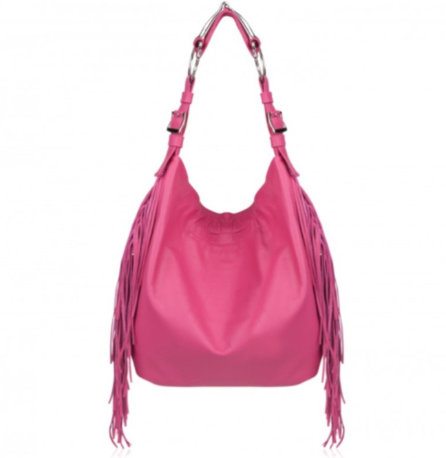 pink fringe horse bit bag