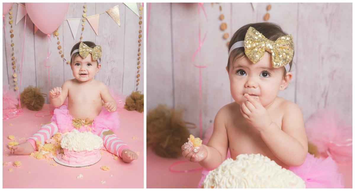 Kaleah 1 Year Cake Smash | Logan Utah Cake Smash Photographer