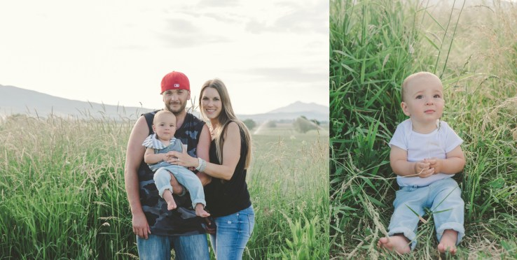 Outdoor Cake Smash Session Cache Valley Utah