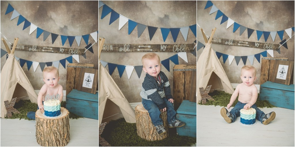 Hawkes Rustic Outdoor Theme Utah Cake Smash Photographer