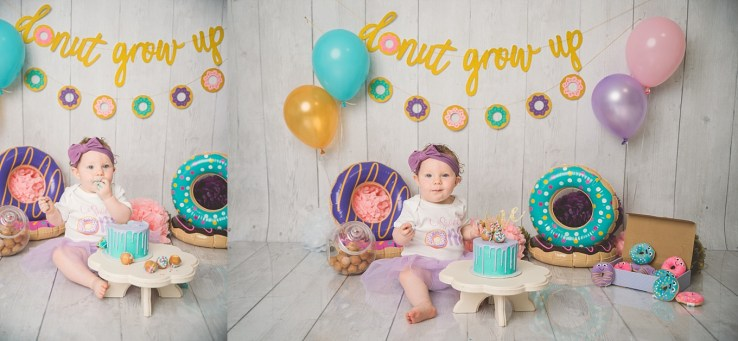 Donut Grow Up Utah Cake Smash Photographer