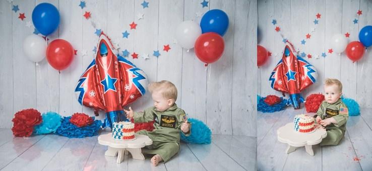 Top Gun Cake Smash Photographer Logan Utah
