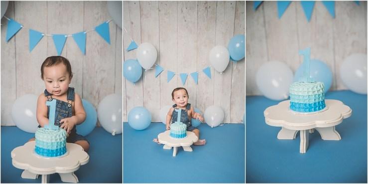 Boy Cake Smash Logan Utah Photographer