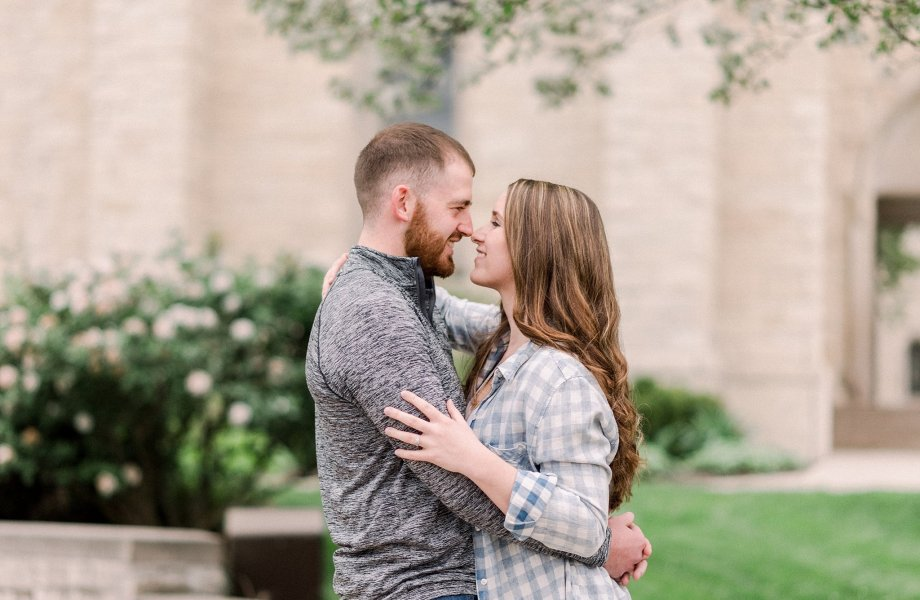 Nick + Brooke | Downtown Fort Wayne Engagement Session