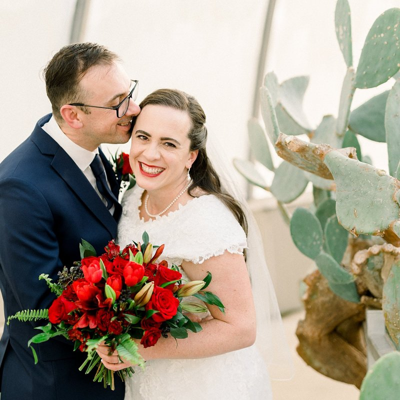Winter Botanical Wedding, Potawatomi Conservatories wedding in South Bend, IN
