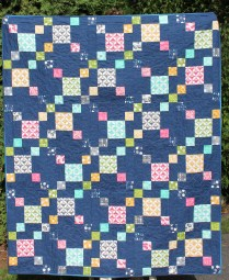 Rainbow Confetti- Modern Quilts Unlimited Winter 2015