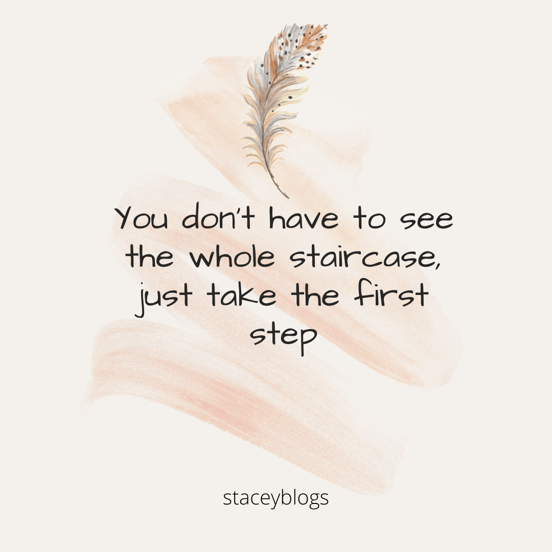 Motivation quote first step