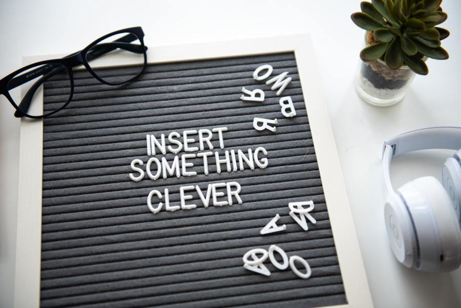 Notice board that says 'Insert Something Cleve