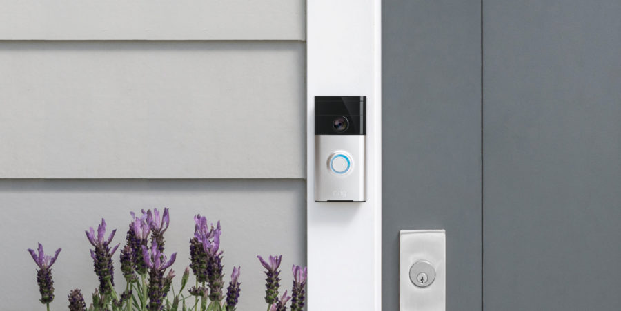 Picture of a Ring video doorbell